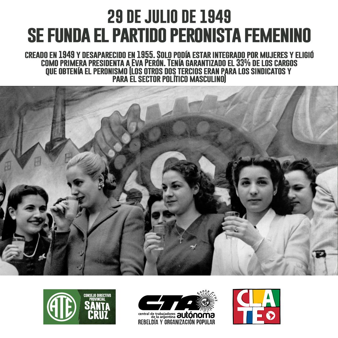 Fundación del Partido Peronista Femenino