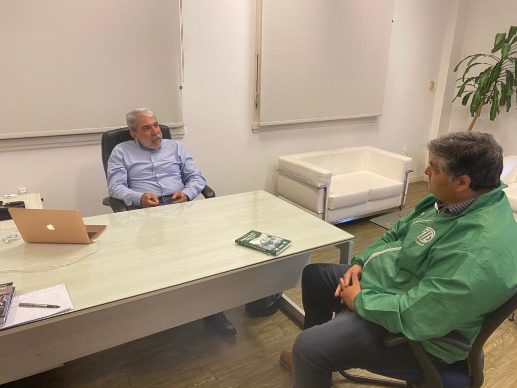 Alejandro Garzón se reunió con Aníbal Fernández