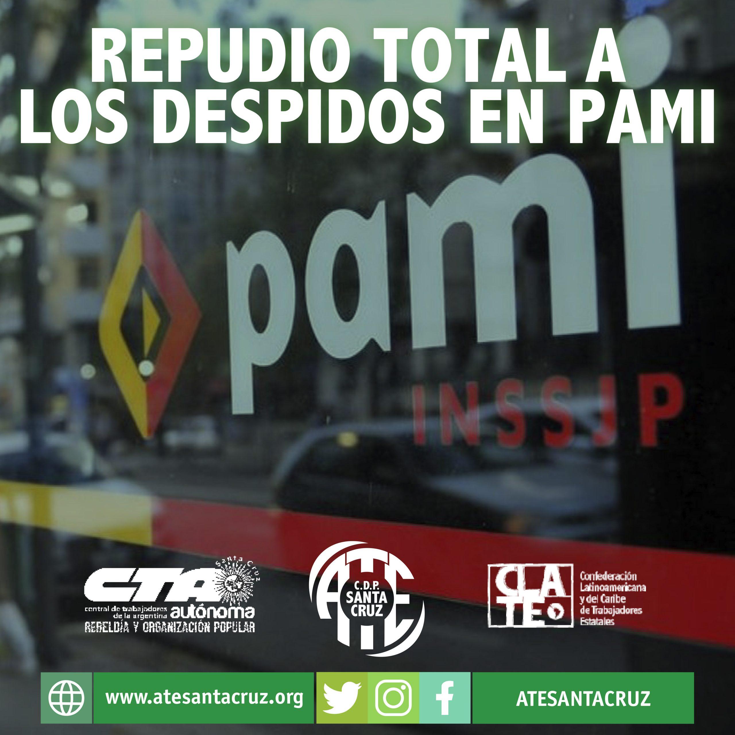 Repudio total a los despidos en PAMI