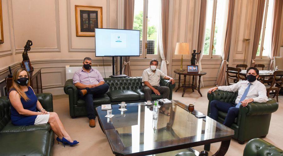 Godoy y Garzón se reunieron con el ministro Trotta por los auxiliares