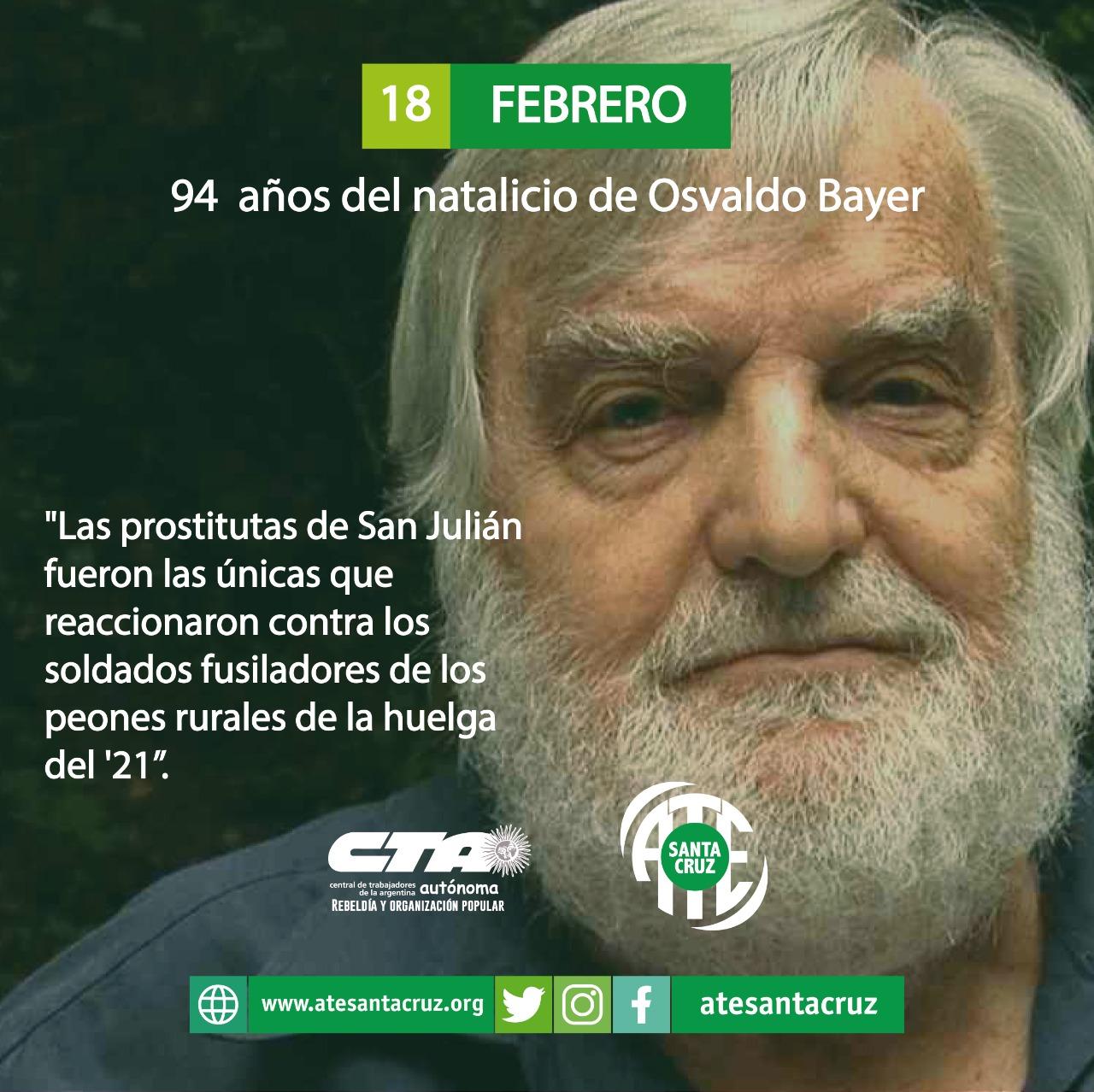 Nace Osvaldo Bayer