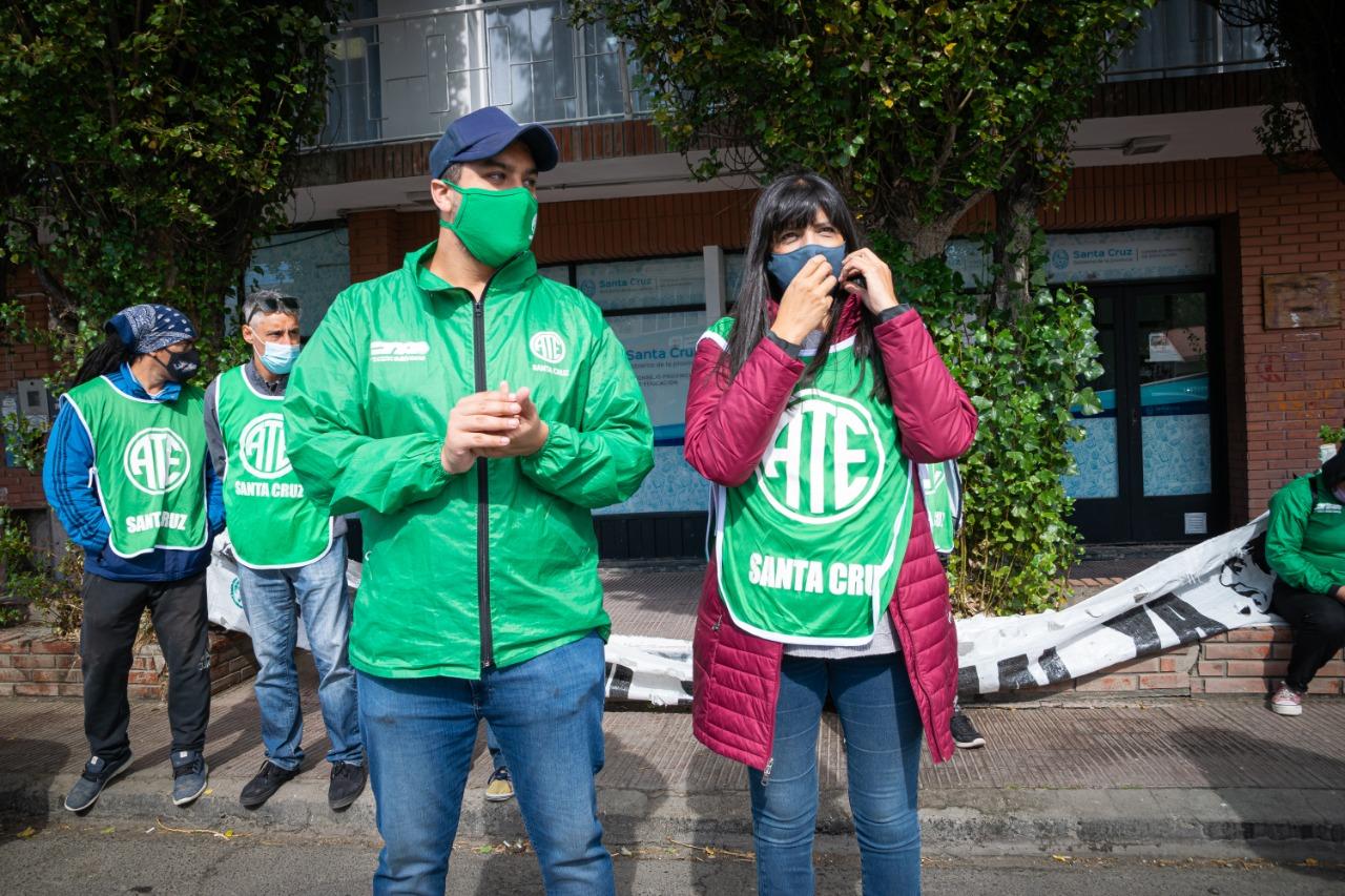 ATE Santa Cruz en apoyo a los trabajadores de la salud de Neuquén