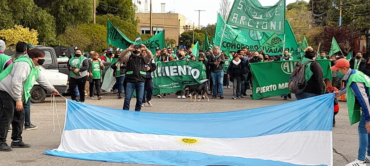 ATE Santa Cruz con lxs estatales de Chubut